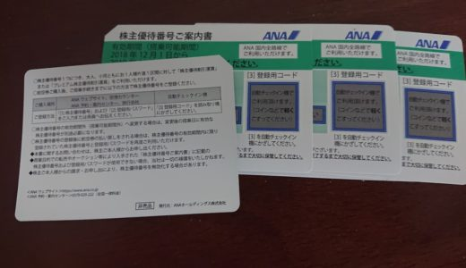 ANA株主優待券の使い方!便利でお得です!